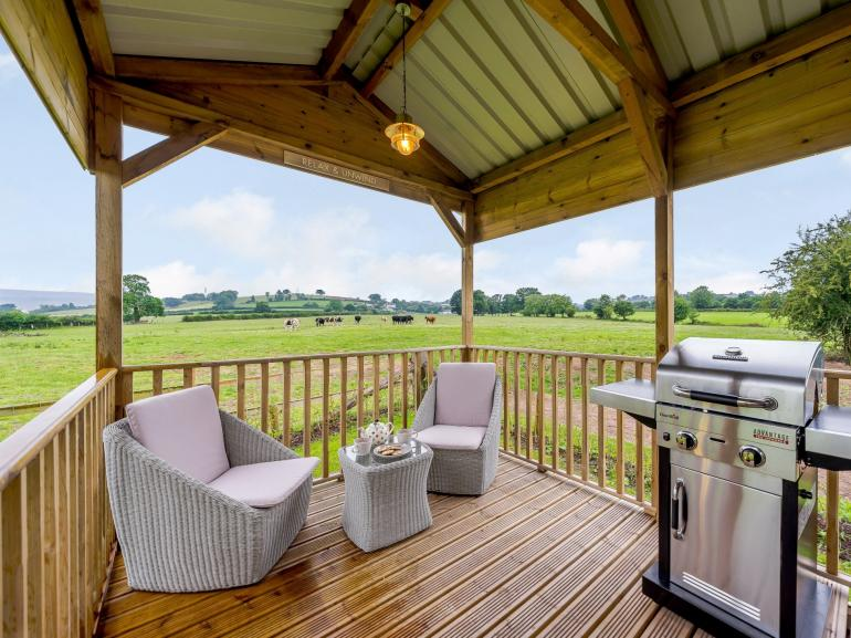 Covered terrace with gorgeous views and BBQ
