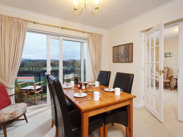 Dining Area with view of the Beacons