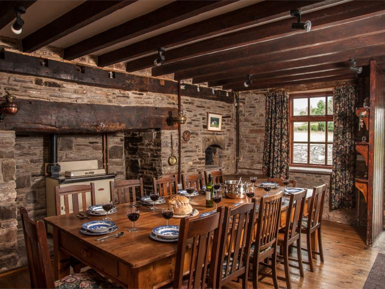Enjoy dining in the authentic Manor dining room