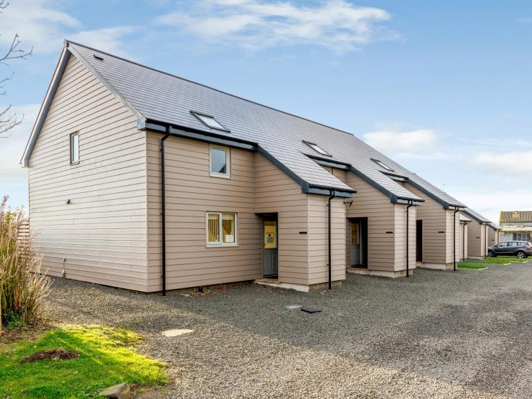 One of nine lodges with private decking areas and rural views