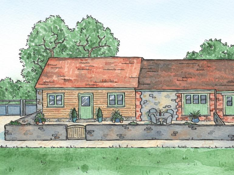 Artist impression of the outside of the property
