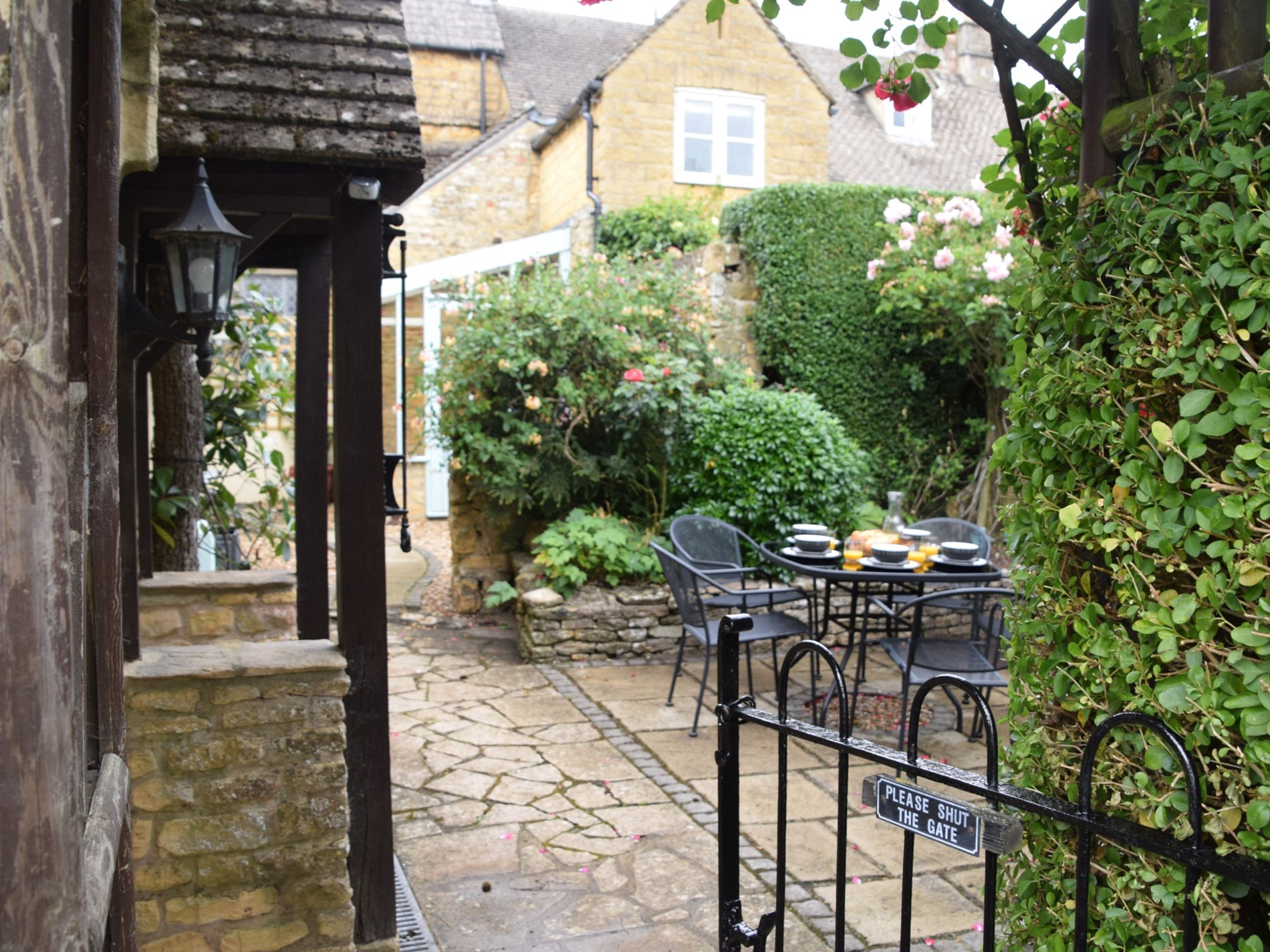 Private and enclosed courtyard area