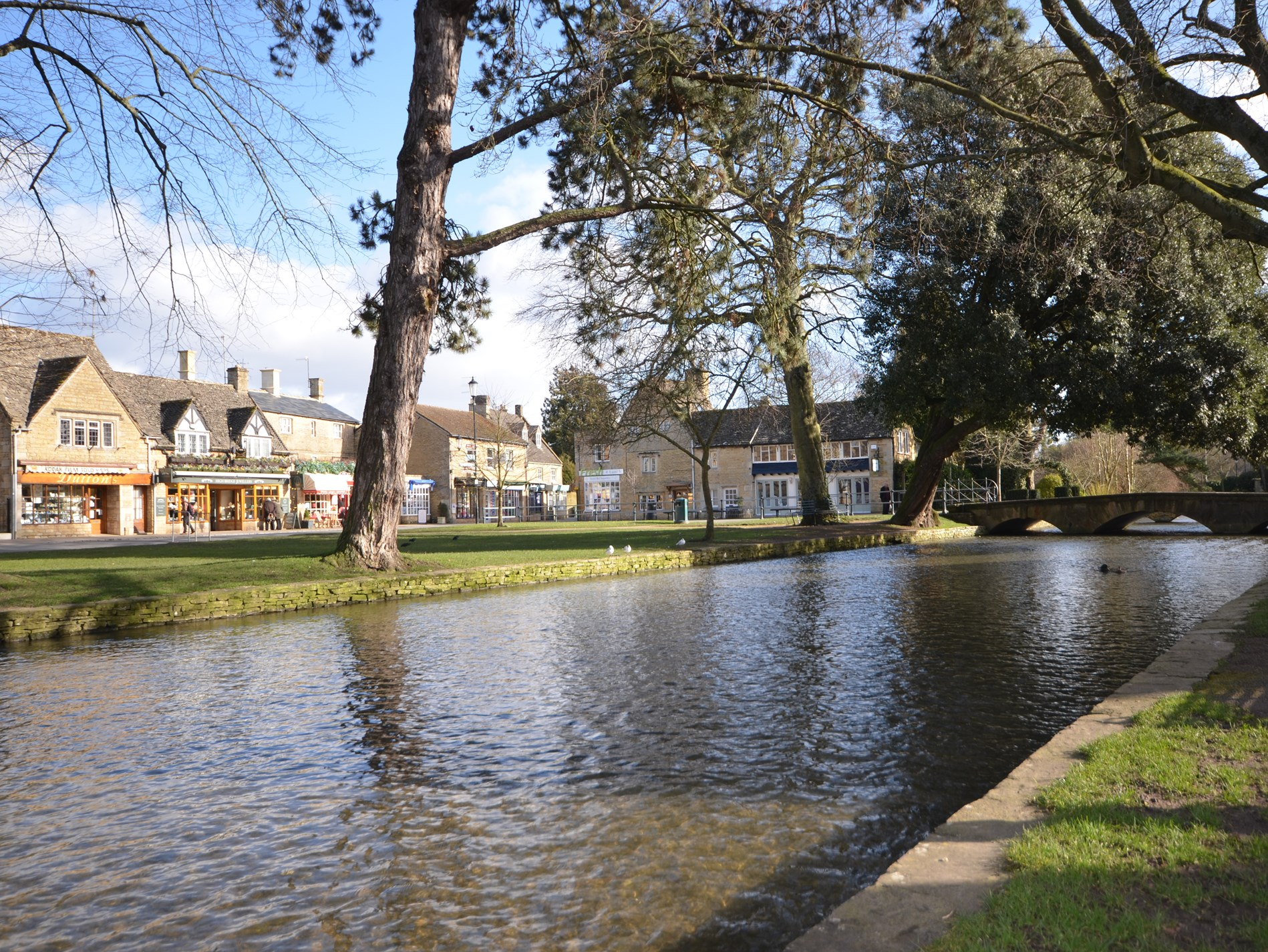 Dip your feet in the famous Bourton waters