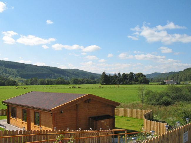 One of the lodges on site with stunning countryside views