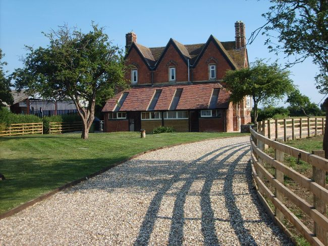 Rear of the property and garden