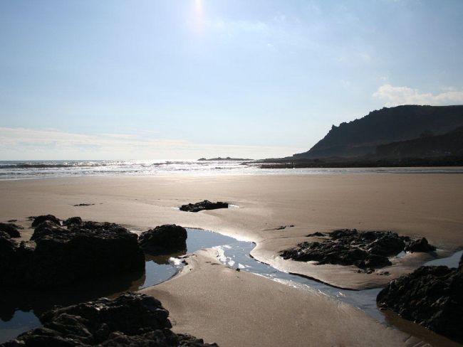 The beach, 30 minute walk down a choice of a footpath or a very narrow lane