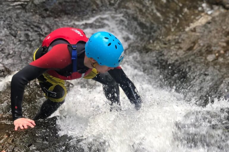 Gorge walking: Image credit Instagrama @northwalesactive