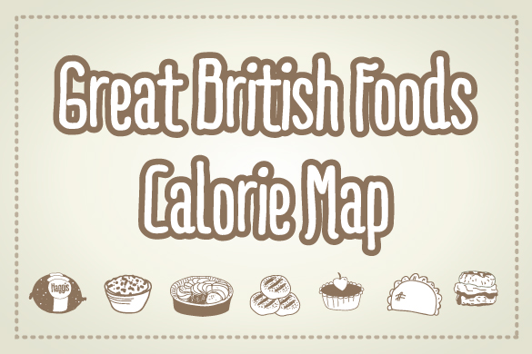 Great British Foods Calorie Map