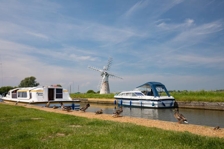 River boats on the Norfolk Broads