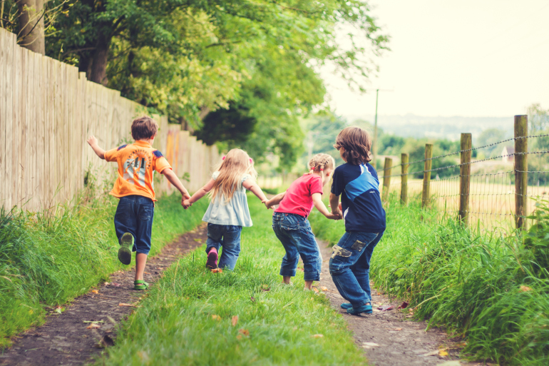 Kids having fun on a day out