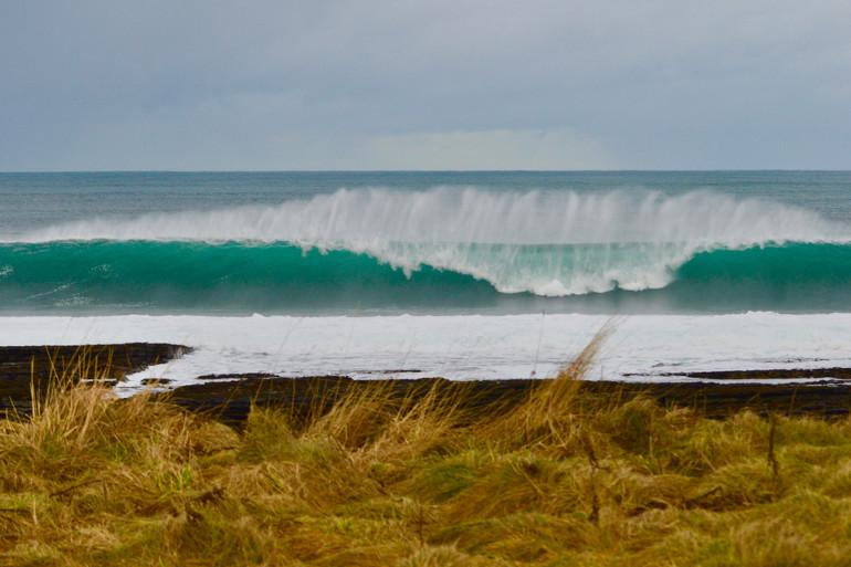 Thurso, a top surfing beach in North East Scotland, UK