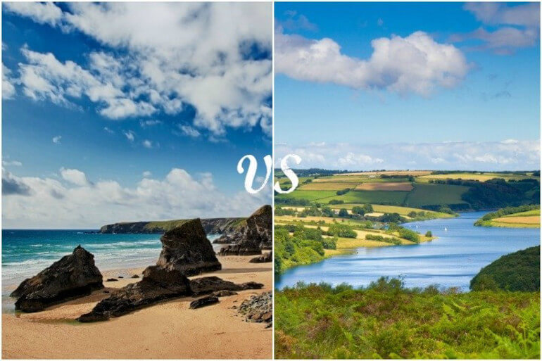 Devon holidays vs Cornwall holidays