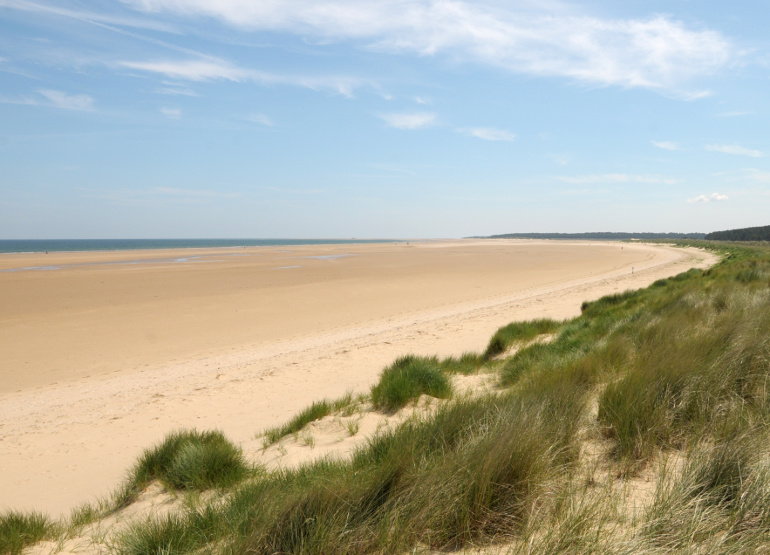 Sandy beach at Holkham in Norfolk