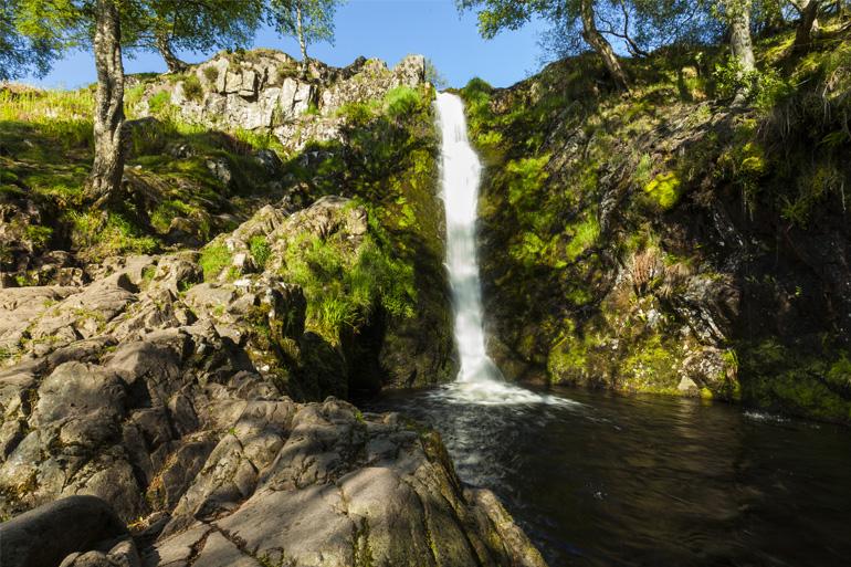 Waterfall at Linhope Spout