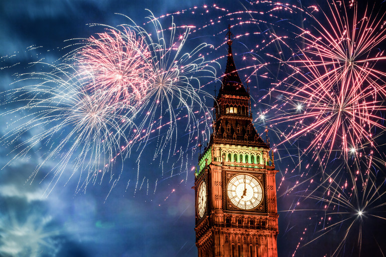 Top 10 New Year's Eve destinations in the UK