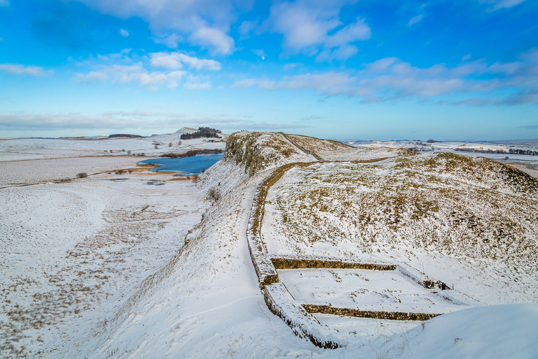 Hadrian's Wall in snow