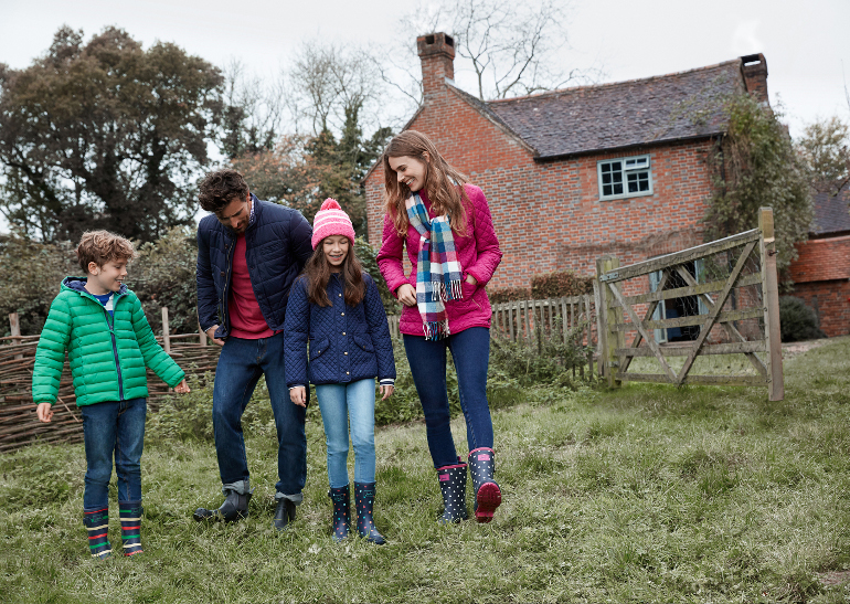 Family in wellies