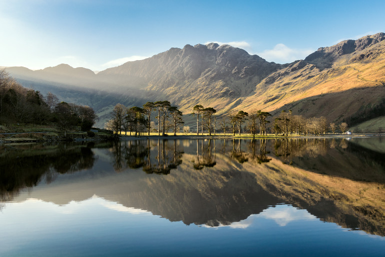 Lake buttermere in the Lake District National Park
