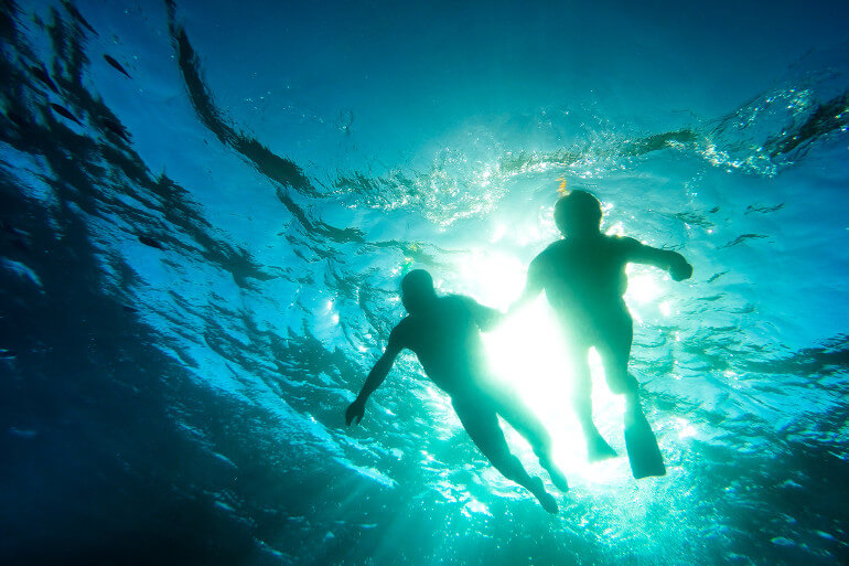 Snorkelling at Nanjizal beach