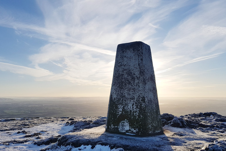 Winter walks at the Worcestershire Beacon, Cotswolds