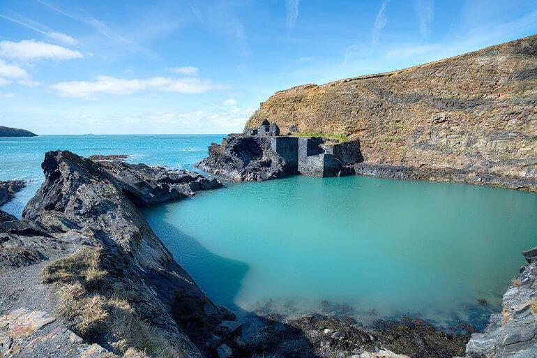 The Blue Lagoon at Abereiddy