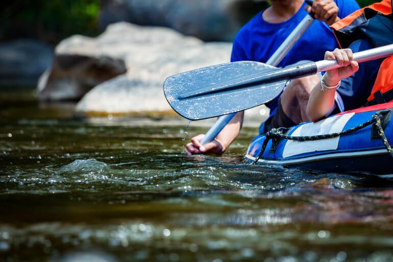 Kayak at Low Force Waterfall