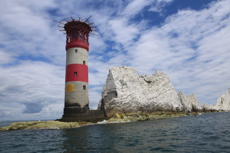 The spectacular Needles Lighthouse