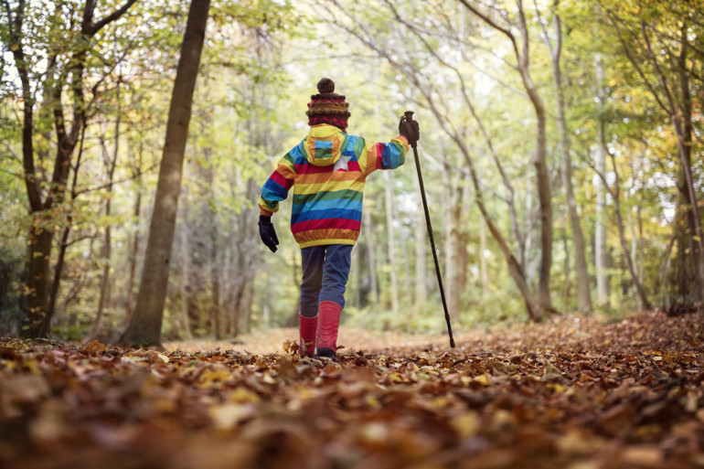 Nature trails are great fun for kids