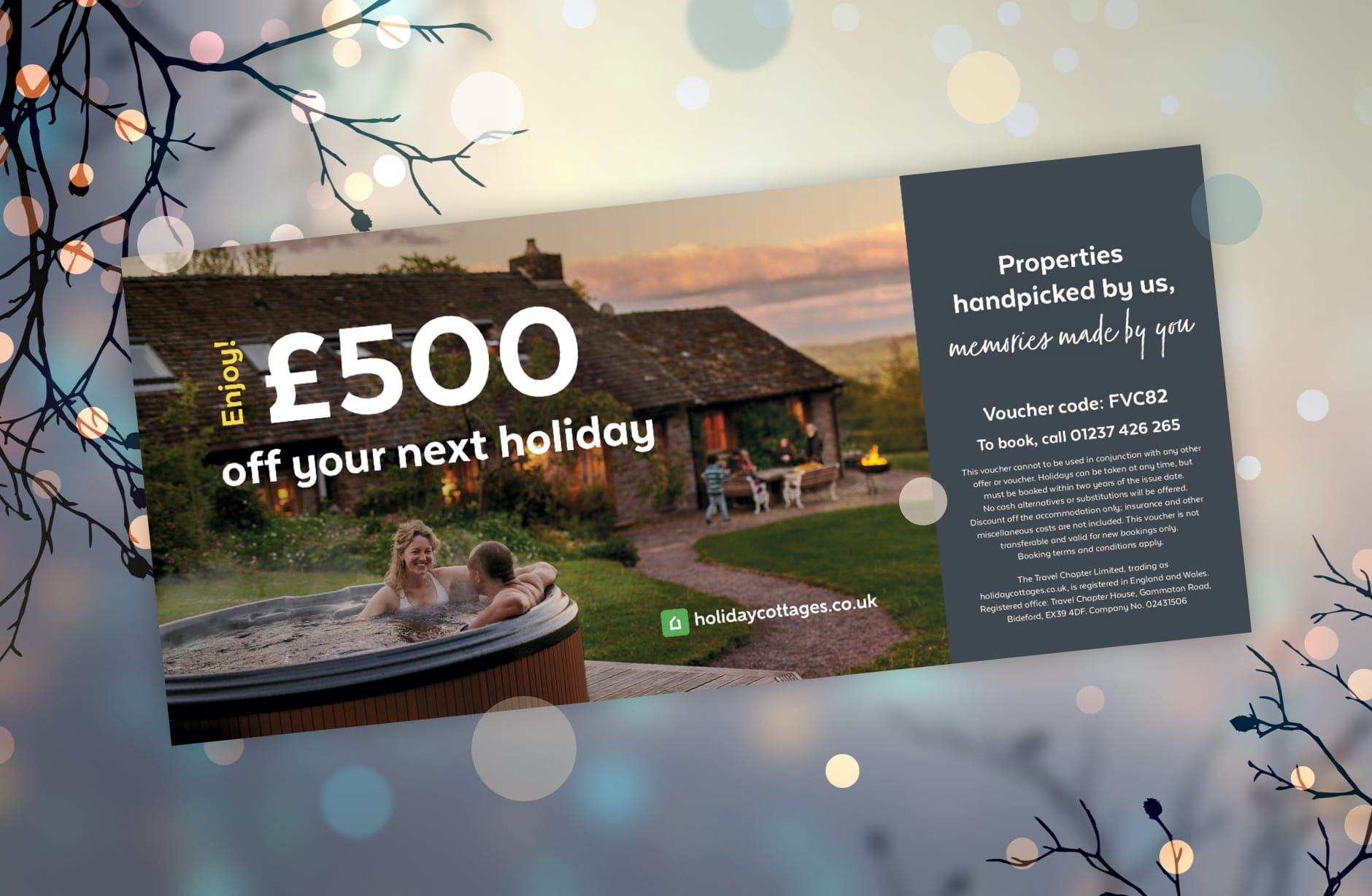 Buy holiday cottage gift vouchers