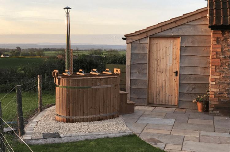 Romantic hot tub cottages