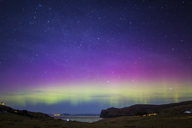 Northern Lights on the Isle of Harris