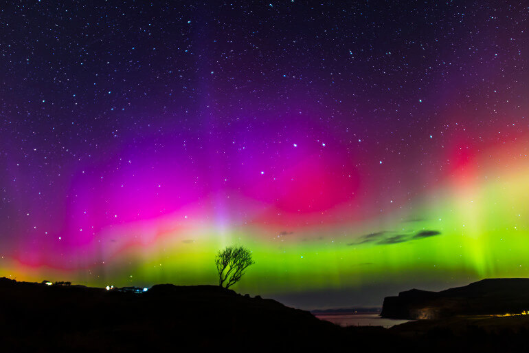Northern Lights on the Isle of Skye