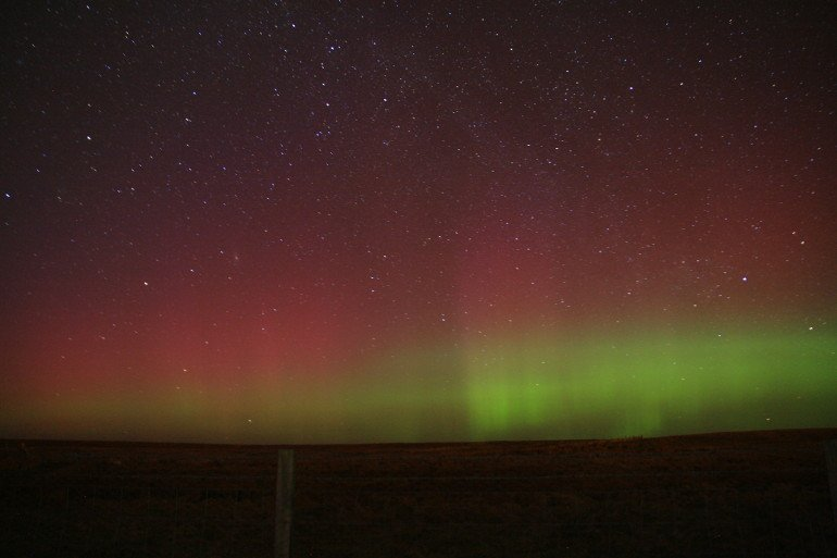 Northern Lights on Orkney Islands