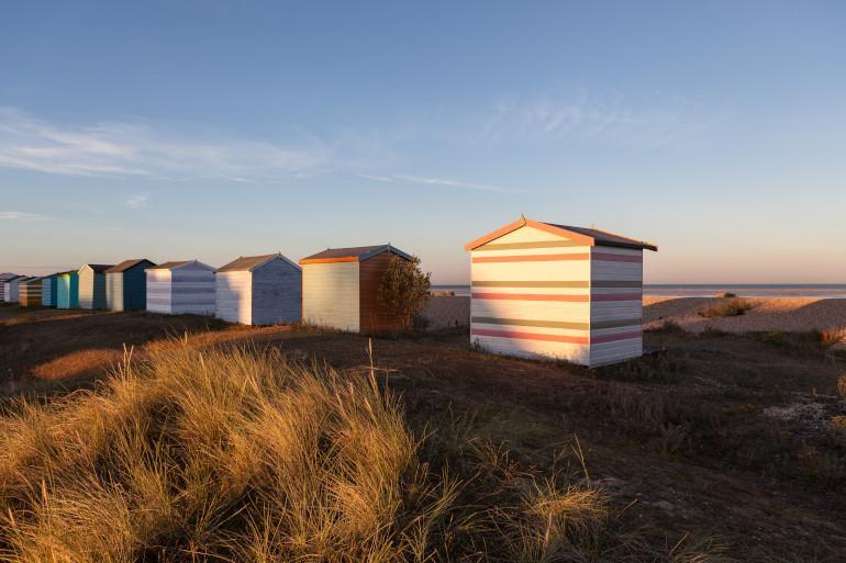 beach huts greatstone kent uk