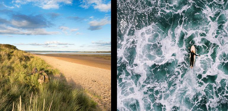 Braunton Burrows - Sand Dunes - Waves