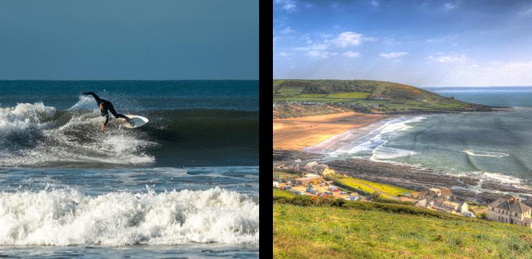 surfer - croyde bay