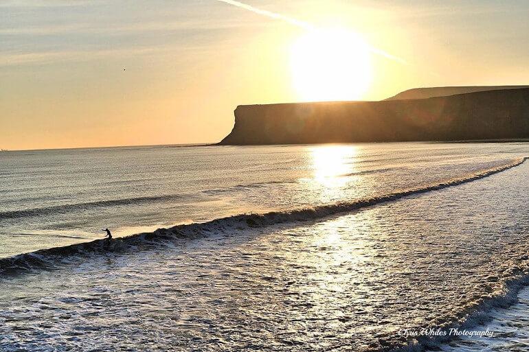 Saltburn surfing