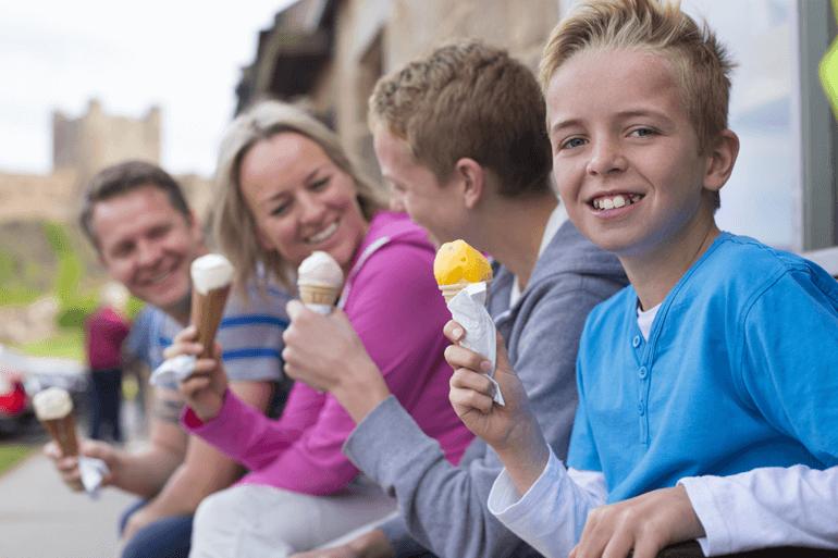 northumberland food ice cream family