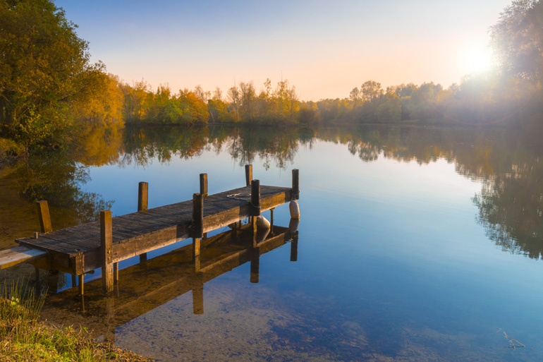 Lake in the Cotswolds