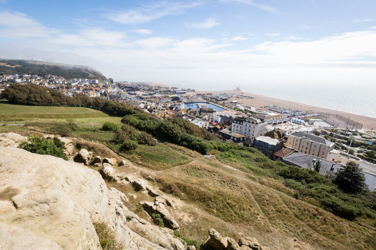 Soak up views from Hastings Country Park