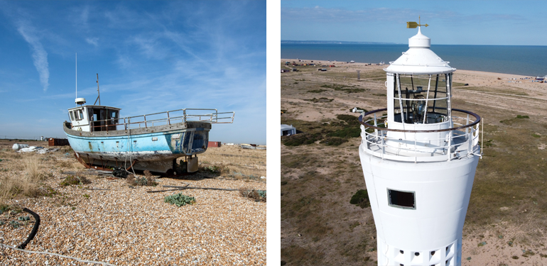 Enjoy a unique seaside stroll at Dungeness