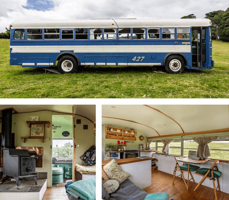 Bluebird Bus, South Devon   Sleeps: 2 guests + 1 dog