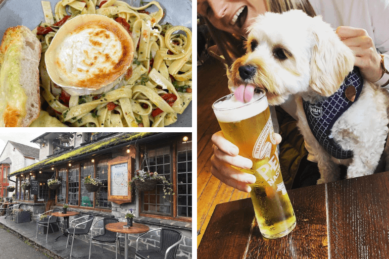 Dine alfresco with your dog at the Flying Pig