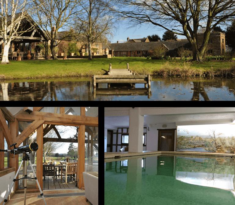 Farmhouse Manor, Heart of England   Sleeps: 10 guests