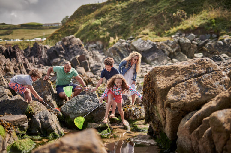Family rock pooling