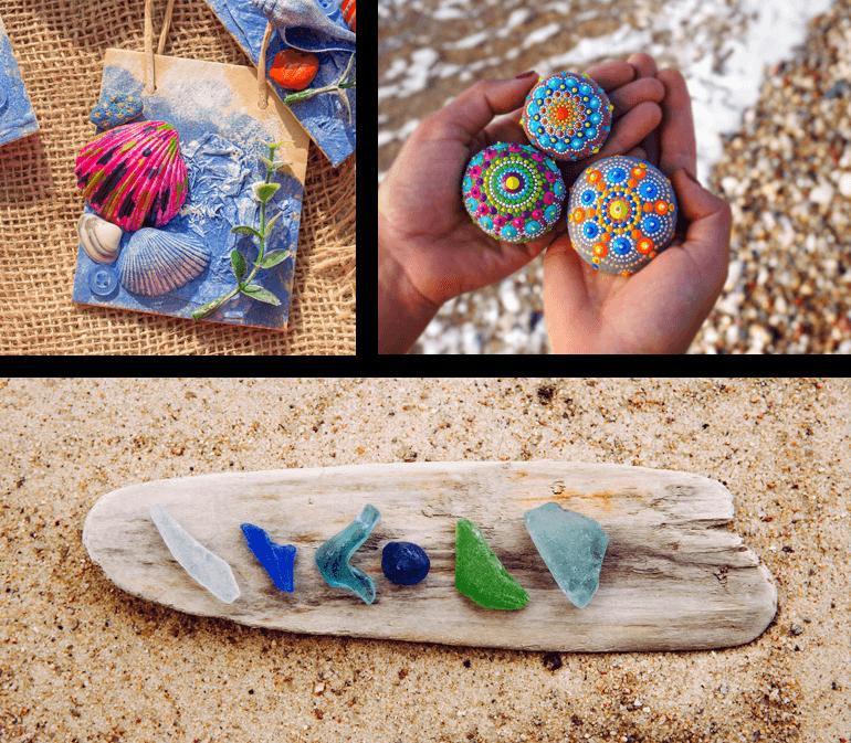 Beachcombing crafts