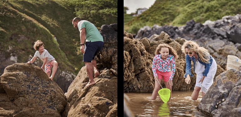 Family coastal foraging