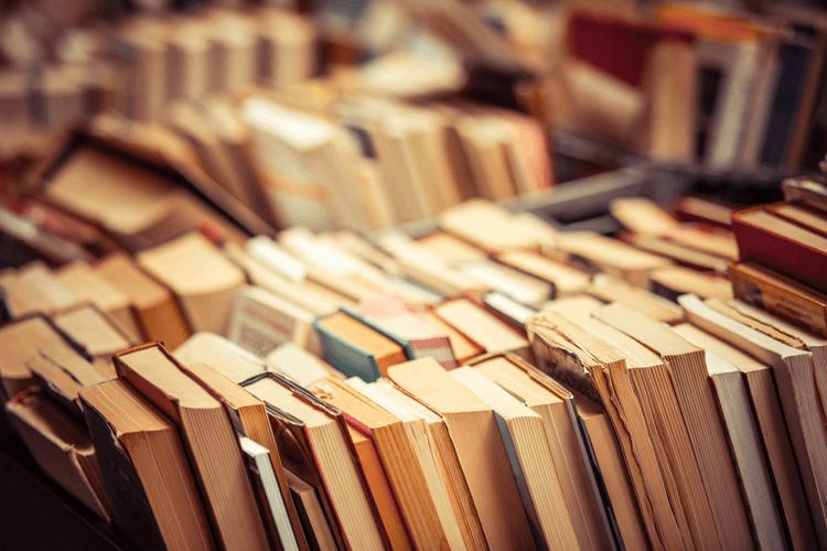 books in a bookshop