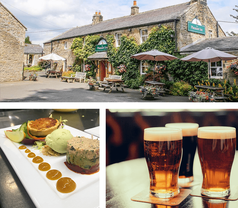 Exquisitely prepared food at the Pheasant Inn
