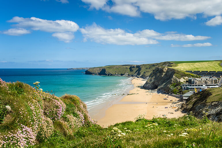 A picturesque Cornish beach